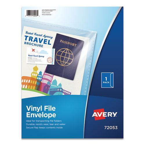 Vinyl File Envelope, Letter Size, Clear. Picture 1