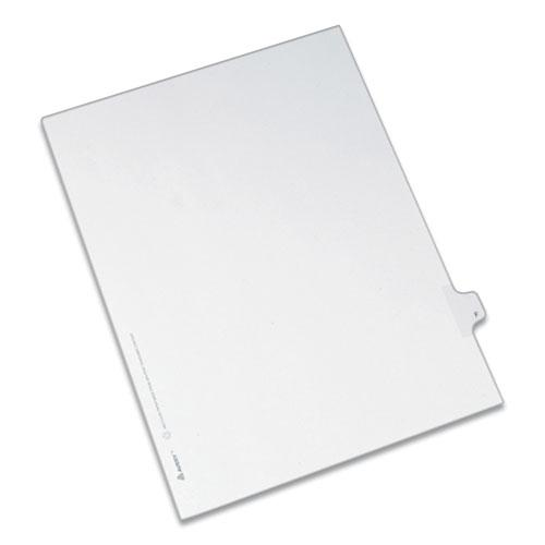 Preprinted Legal Exhibit Side Tab Index Dividers, Allstate Style, 26-Tab, F, 11 x 8.5, White, 25/Pack. Picture 1