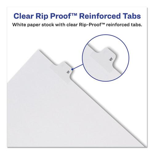 Preprinted Legal Exhibit Side Tab Index Dividers, Allstate Style, 26-Tab, H, 11 x 8.5, White, 25/Pack. Picture 2