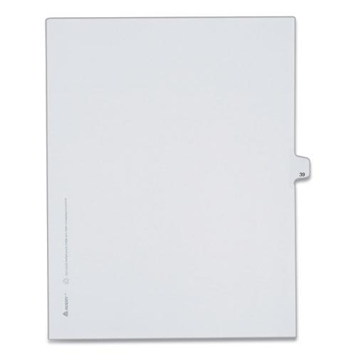 Preprinted Legal Exhibit Side Tab Index Dividers, Allstate Style, 10-Tab, 39, 11 x 8.5, White, 25/Pack. Picture 1