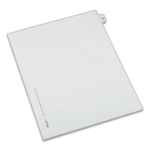 Preprinted Legal Exhibit Side Tab Index Dividers, Allstate Style, 10-Tab, 24, 11 x 8.5, White, 25/Pack. Picture 1