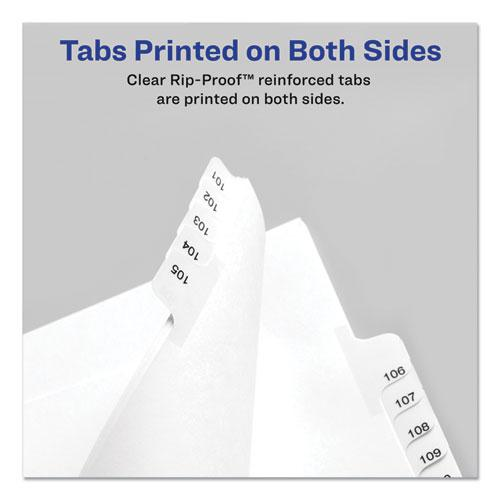Preprinted Legal Exhibit Side Tab Index Dividers, Allstate Style, 26-Tab, M, 11 x 8.5, White, 25/Pack. Picture 2