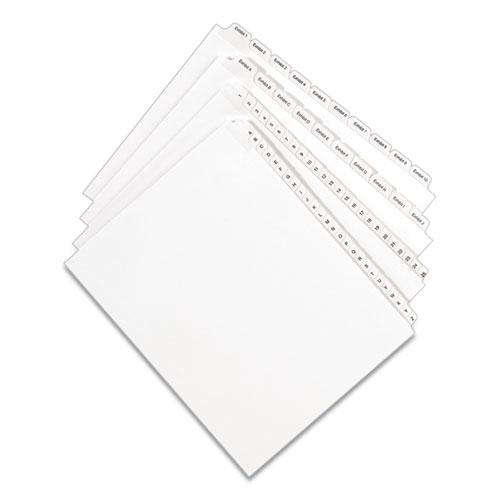 Preprinted Legal Exhibit Side Tab Index Dividers, Allstate Style, 10-Tab, 5, 11 x 8.5, White, 25/Pack. Picture 2