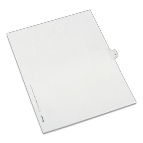 Preprinted Legal Exhibit Side Tab Index Dividers, Allstate Style, 10-Tab, 38, 11 x 8.5, White, 25/Pack. Picture 1