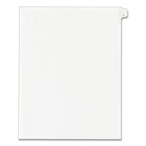 Preprinted Legal Exhibit Side Tab Index Dividers, Allstate Style, 10-Tab, 1, 11 x 8.5, White, 25/Pack. Picture 1