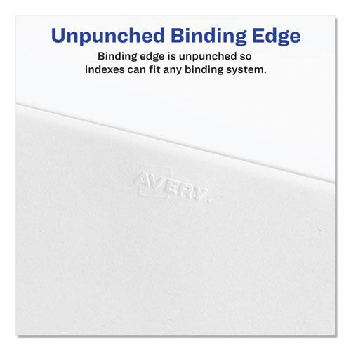 Preprinted Legal Exhibit Side Tab Index Dividers, Allstate Style, 26-Tab, R, 11 x 8.5, White, 25/Pack. Picture 3