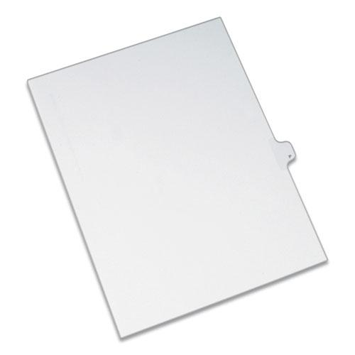 Preprinted Legal Exhibit Side Tab Index Dividers, Allstate Style, 26-Tab, P, 11 x 8.5, White, 25/Pack. Picture 1