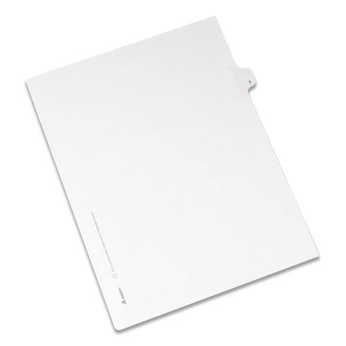 Preprinted Legal Exhibit Side Tab Index Dividers, Allstate Style, 26-Tab, T, 11 x 8.5, White, 25/Pack. Picture 1