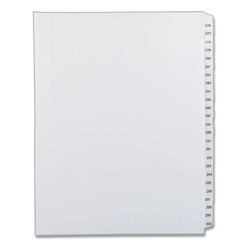 Preprinted Legal Exhibit Side Tab Index Dividers, Allstate Style, 25-Tab, 276 to 300, 11 x 8.5, White, 1 Set. Picture 1