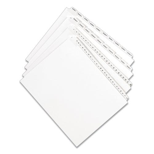 Preprinted Legal Exhibit Side Tab Index Dividers, Allstate Style, 25-Tab, 251 to 275, 11 x 8.5, White, 1 Set. Picture 2