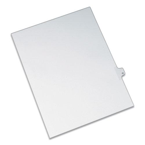Preprinted Legal Exhibit Side Tab Index Dividers, Allstate Style, 10-Tab, 18, 11 x 8.5, White, 25/Pack. Picture 1