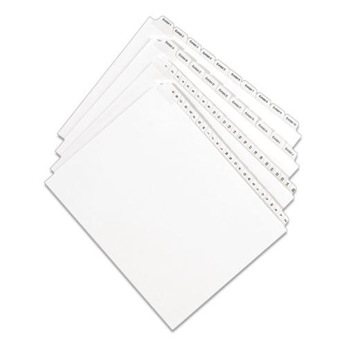 Preprinted Legal Exhibit Side Tab Index Dividers, Allstate Style, 10-Tab, 28, 11 x 8.5, White, 25/Pack. Picture 6