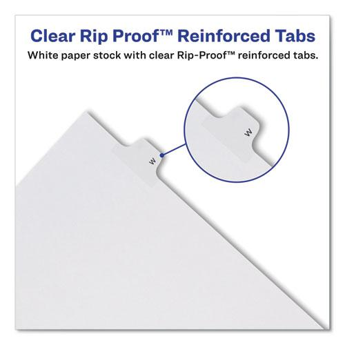 Preprinted Legal Exhibit Side Tab Index Dividers, Allstate Style, 26-Tab, T, 11 x 8.5, White, 25/Pack. Picture 4