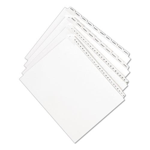 Preprinted Legal Exhibit Side Tab Index Dividers, Allstate Style, 10-Tab, 4, 11 x 8.5, White, 25/Pack. Picture 3