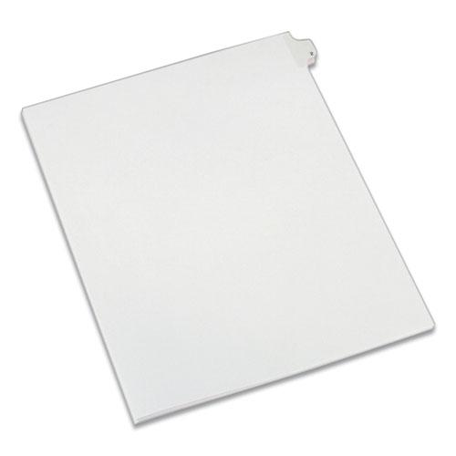Preprinted Legal Exhibit Side Tab Index Dividers, Allstate Style, 10-Tab, 2, 11 x 8.5, White, 25/Pack. Picture 1