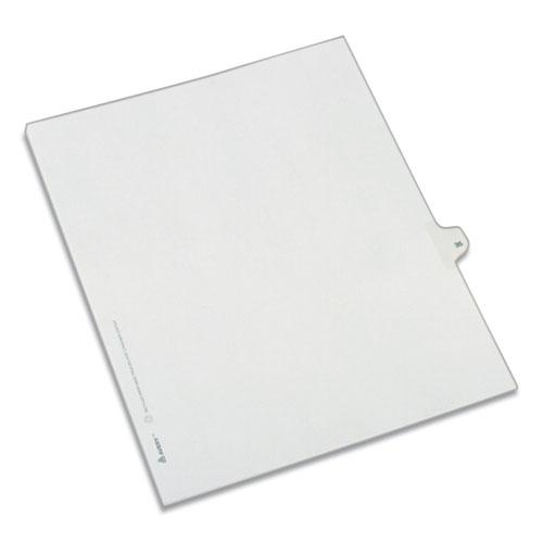 Preprinted Legal Exhibit Side Tab Index Dividers, Allstate Style, 10-Tab, 35, 11 x 8.5, White, 25/Pack. Picture 1
