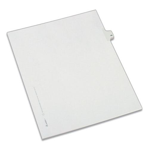 Preprinted Legal Exhibit Side Tab Index Dividers, Allstate Style, 10-Tab, 19, 11 x 8.5, White, 25/Pack. Picture 1