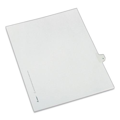 Preprinted Legal Exhibit Side Tab Index Dividers, Allstate Style, 10-Tab, 9, 11 x 8.5, White, 25/Pack. Picture 1