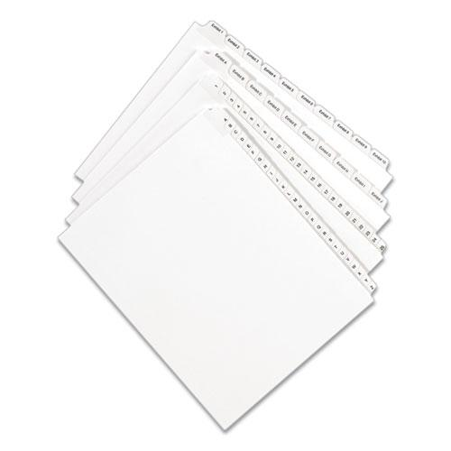 Preprinted Legal Exhibit Side Tab Index Dividers, Allstate Style, 10-Tab, 39, 11 x 8.5, White, 25/Pack. Picture 2