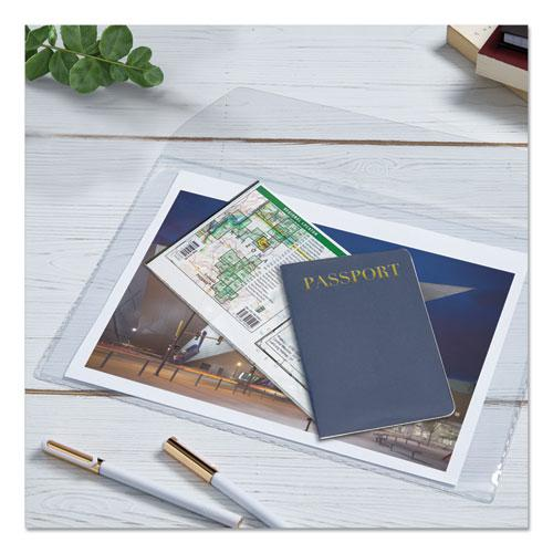 Vinyl File Envelope, Letter Size, Clear. Picture 7