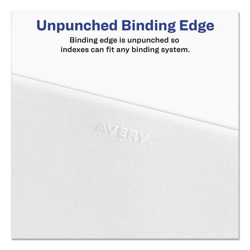 Preprinted Legal Exhibit Side Tab Index Dividers, Allstate Style, 25-Tab, 1 to 25, 11 x 8.5, White, 1 Set, (1701). Picture 6