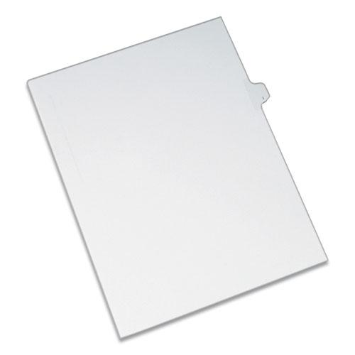 Preprinted Legal Exhibit Side Tab Index Dividers, Allstate Style, 26-Tab, I, 11 x 8.5, White, 25/Pack. Picture 1