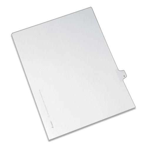 Preprinted Legal Exhibit Side Tab Index Dividers, Allstate Style, 10-Tab, 8, 11 x 8.5, White, 25/Pack. Picture 1