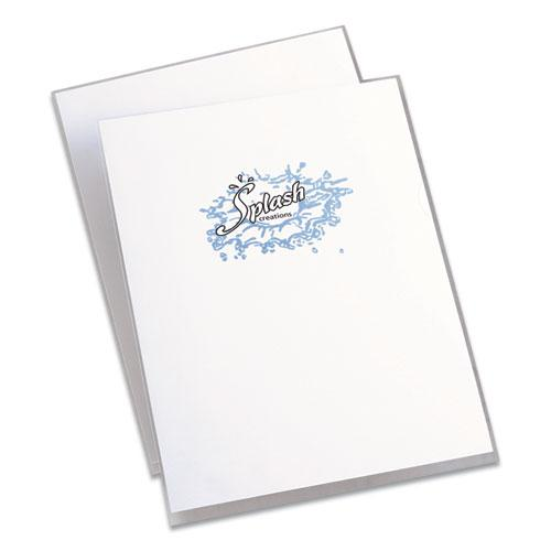 Clear Plastic Sleeves, Letter Size, Clear, 12/Pack. Picture 2