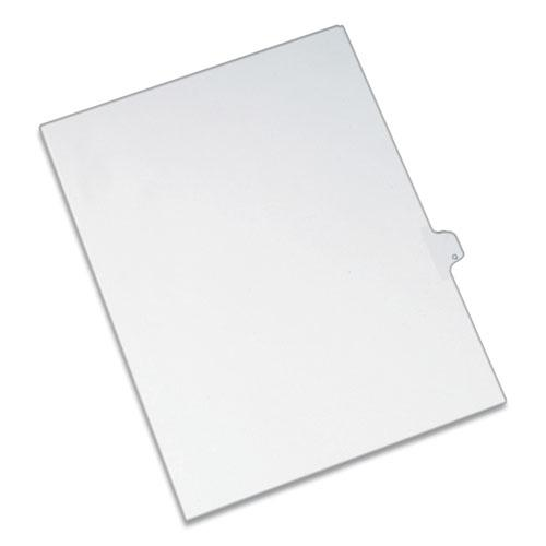 Preprinted Legal Exhibit Side Tab Index Dividers, Allstate Style, 26-Tab, Q, 11 x 8.5, White, 25/Pack. Picture 1