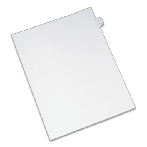 Preprinted Legal Exhibit Side Tab Index Dividers, Allstate Style, 26-Tab, D, 11 x 8.5, White, 25/Pack. Picture 1