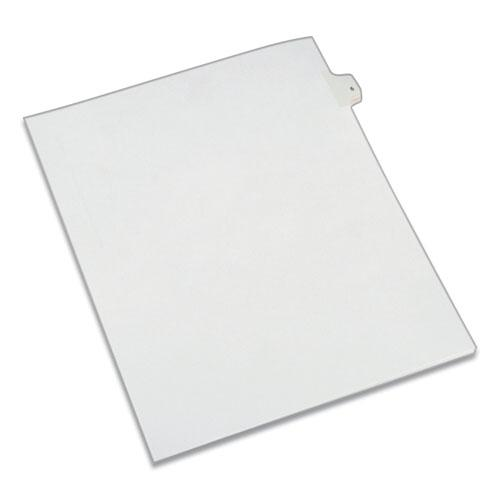 Preprinted Legal Exhibit Side Tab Index Dividers, Allstate Style, 10-Tab, 5, 11 x 8.5, White, 25/Pack. Picture 1