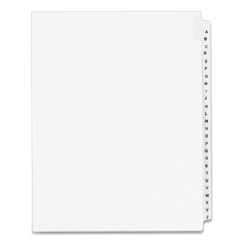 Preprinted Legal Exhibit Side Tab Index Dividers, Avery Style, 26-Tab, A to Z, 11 x 8.5, White, 1 Set, (1400). Picture 1