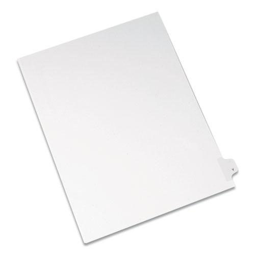 Preprinted Legal Exhibit Side Tab Index Dividers, Allstate Style, 26-Tab, Y, 11 x 8.5, White, 25/Pack. Picture 1