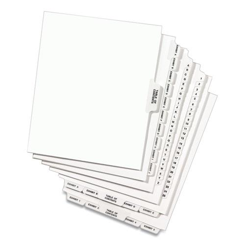 Preprinted Legal Exhibit Side Tab Index Dividers, Avery Style, 10-Tab, 6, 11 x 8.5, White, 25/Pack. Picture 6