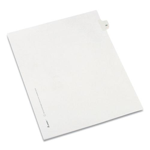 Preprinted Legal Exhibit Side Tab Index Dividers, Allstate Style, 10-Tab, 22, 11 x 8.5, White, 25/Pack. Picture 1