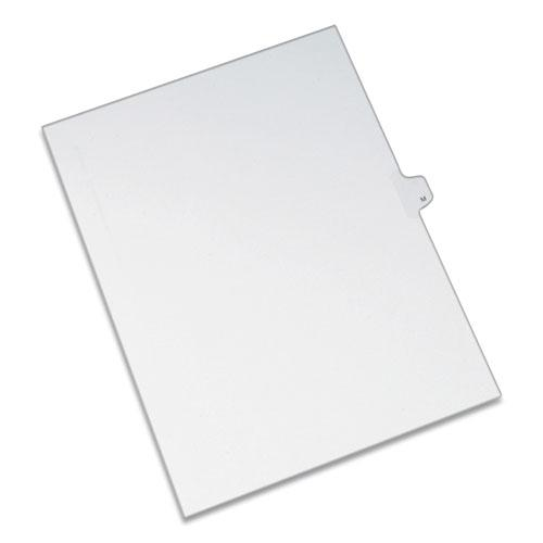 Preprinted Legal Exhibit Side Tab Index Dividers, Allstate Style, 26-Tab, M, 11 x 8.5, White, 25/Pack. Picture 1