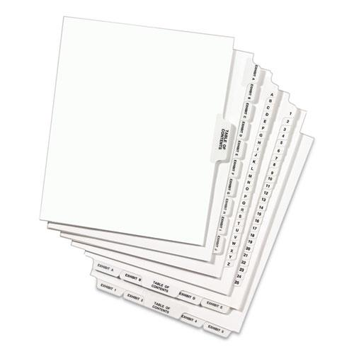 Preprinted Legal Exhibit Side Tab Index Dividers, Avery Style, 10-Tab, 7, 11 x 8.5, White, 25/Pack. Picture 6