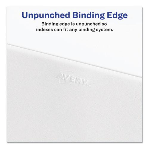 Preprinted Legal Exhibit Side Tab Index Dividers, Allstate Style, 10-Tab, 8, 11 x 8.5, White, 25/Pack. Picture 3