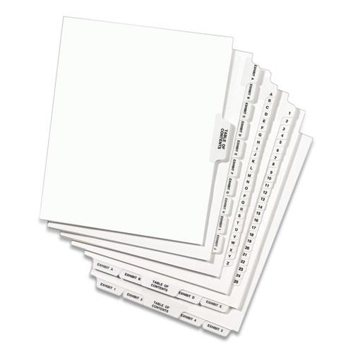 Preprinted Legal Exhibit Side Tab Index Dividers, Avery Style, 25-Tab, 51 to 75, 11 x 8.5, White, 1 Set, (1332). Picture 4
