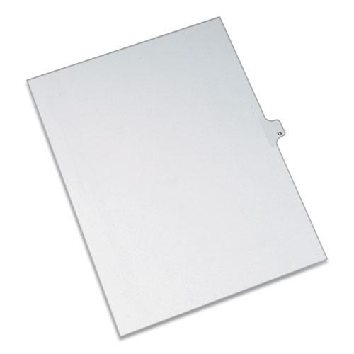 Preprinted Legal Exhibit Side Tab Index Dividers, Allstate Style, 10-Tab, 13, 11 x 8.5, White, 25/Pack. Picture 1