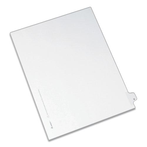 Preprinted Legal Exhibit Side Tab Index Dividers, Allstate Style, 26-Tab, B, 11 x 8.5, White, 25/Pack. Picture 1
