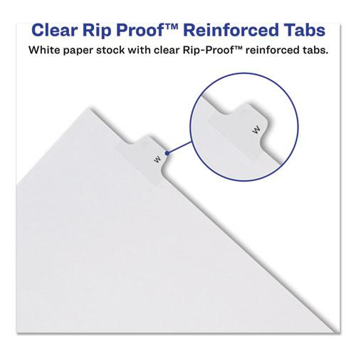 Preprinted Legal Exhibit Side Tab Index Dividers, Allstate Style, 10-Tab, 24, 11 x 8.5, White, 25/Pack. Picture 5