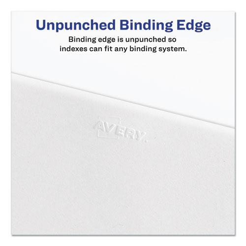 Preprinted Legal Exhibit Side Tab Index Dividers, Allstate Style, 26-Tab, E, 11 x 8.5, White, 25/Pack. Picture 4