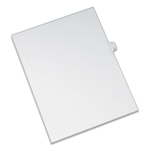 Preprinted Legal Exhibit Side Tab Index Dividers, Allstate Style, 26-Tab, K, 11 x 8.5, White, 25/Pack. Picture 1
