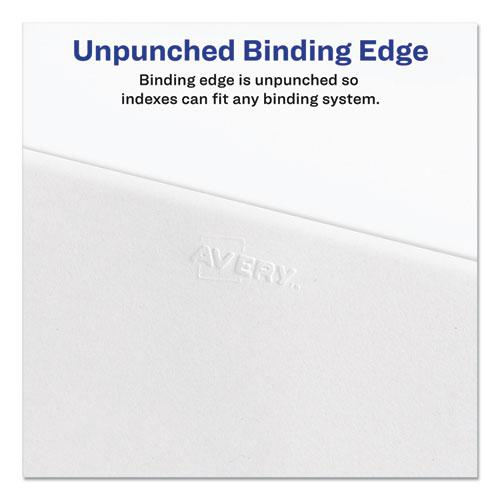 Preprinted Legal Exhibit Side Tab Index Dividers, Allstate Style, 26-Tab, Y, 11 x 8.5, White, 25/Pack. Picture 3