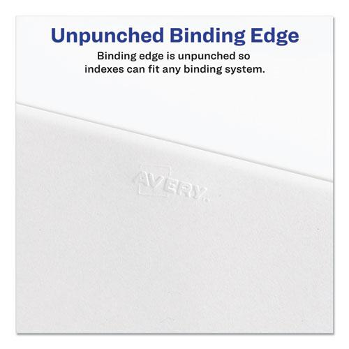 Preprinted Legal Exhibit Side Tab Index Dividers, Allstate Style, 26-Tab, V, 11 x 8.5, White, 25/Pack. Picture 2