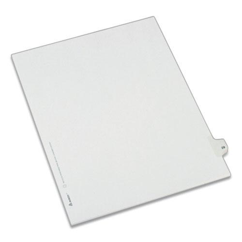 Preprinted Legal Exhibit Side Tab Index Dividers, Allstate Style, 10-Tab, 29, 11 x 8.5, White, 25/Pack. Picture 1