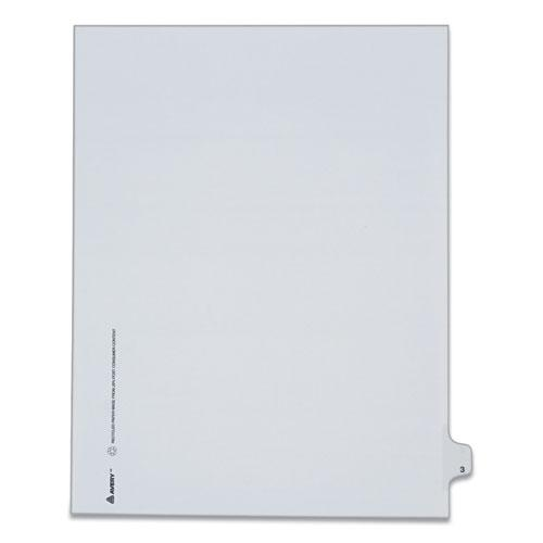 Preprinted Legal Exhibit Side Tab Index Dividers, Allstate Style, 10-Tab, 3, 11 x 8.5, White, 25/Pack. Picture 1