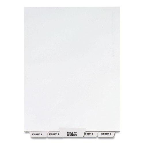 Preprinted Legal Exhibit Bottom Tab Index Dividers, Avery Style, 27-Tab, Exhibit A to Exhibit Z, 11 x 8.5, White, 1 Set. Picture 1