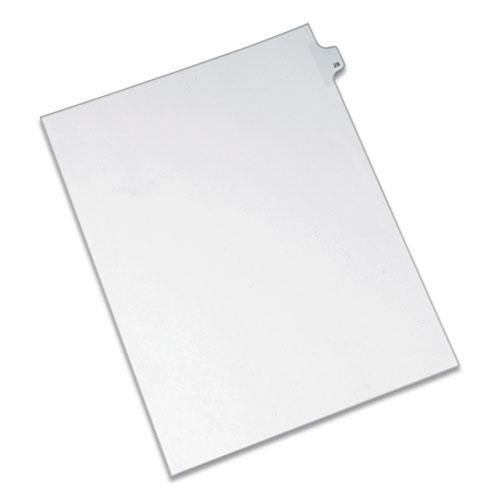 Preprinted Legal Exhibit Side Tab Index Dividers, Allstate Style, 10-Tab, 28, 11 x 8.5, White, 25/Pack. Picture 1